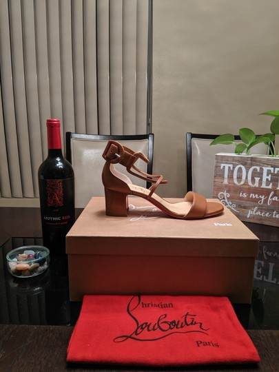 Christian Louboutin Choca Low Heels Cannelle Sandals Image 6