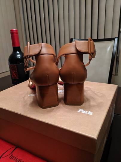 Christian Louboutin Choca Low Heels Cannelle Sandals Image 8