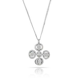 Chopard Pave Clover Diamond Pendant On A Double Chain