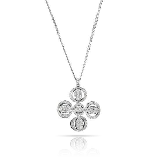 Preload https://img-static.tradesy.com/item/25557064/chopard-white-pave-clover-diamond-pendant-on-a-double-chain-necklace-0-0-540-540.jpg