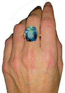Other Topaz 18K Yellow Gold Art Deco Cocktail Ring