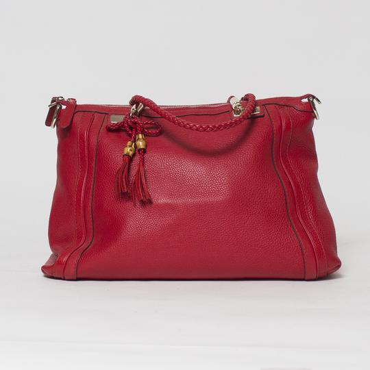 Gucci Bella Convertible 2-way Tote in Red Image 1