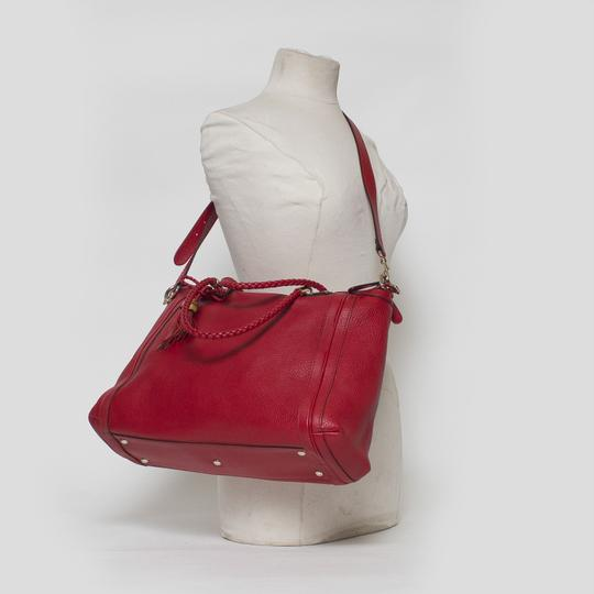 Gucci Bella Convertible 2-way Tote in Red Image 8