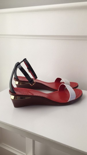 Tory Burch Black, White, Red, Gold Sandals Image 2