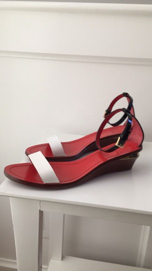 Tory Burch Black, White, Red, Gold Sandals Image 4