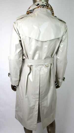 Burberry Stone Beige Men's Patent Canvas Trench Rain Coat 52/Us 42 4069171 Groomsman Gift Image 7