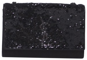 Saint Laurent Ysl Kate Sequin Satin Cross Body Bag