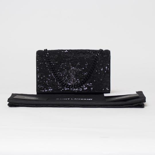 Saint Laurent Ysl Kate Sequin Satin Cross Body Bag Image 11