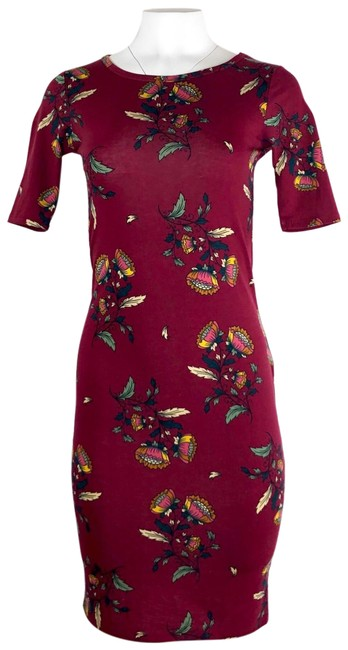 Preload https://img-static.tradesy.com/item/25557240/lularoe-maroon-julia-floral-print-short-casual-dress-size-00-xxs-0-1-650-650.jpg