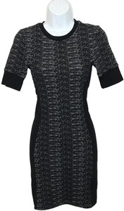 Topshop short dress Black/White Topshopdress Topshopknitdress Topshopbodycontour Bodycontourdress Blackdress on Tradesy