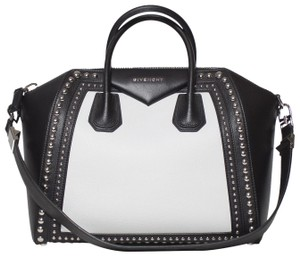 Givenchy Antigona Studded Tote in Black and White