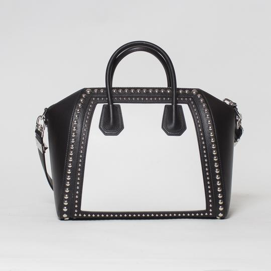 Givenchy Antigona Studded Tote in Black and White Image 1