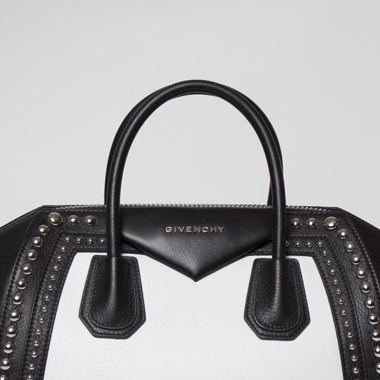 Givenchy Antigona Studded Tote in Black and White Image 5