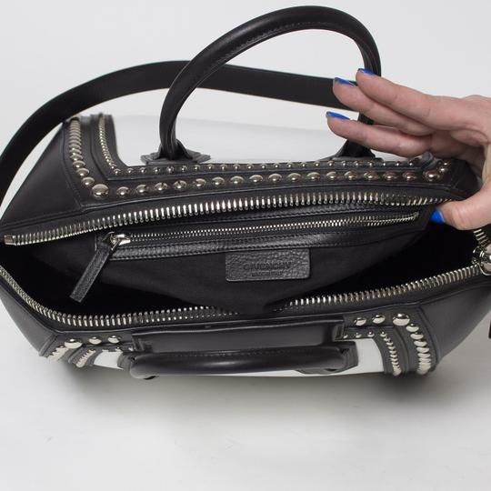 Givenchy Antigona Studded Tote in Black and White Image 7