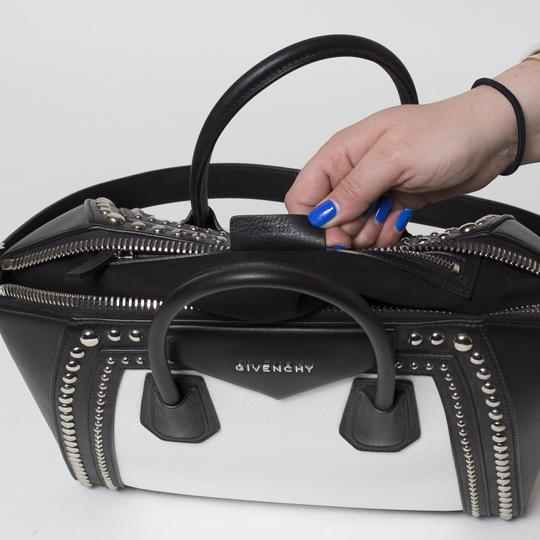 Givenchy Antigona Studded Tote in Black and White Image 8