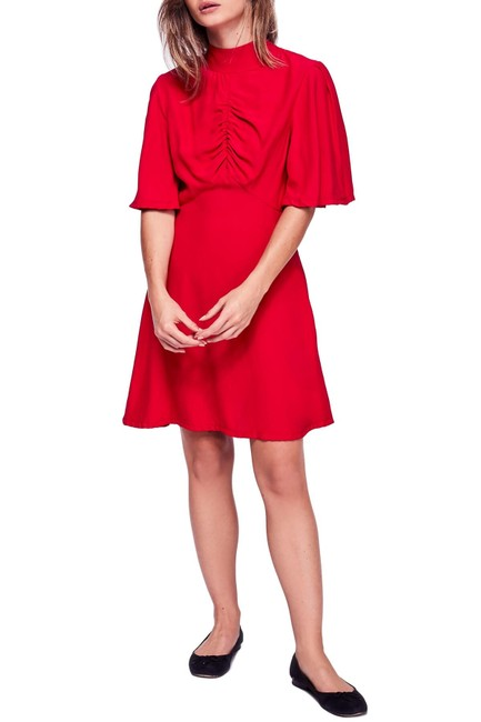 Preload https://img-static.tradesy.com/item/25557262/free-people-be-my-baby-ruched-front-elbow-sleeve-short-casual-dress-size-8-m-0-0-650-650.jpg