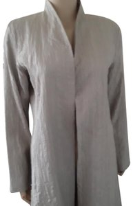 Eileen Fisher Light Gray 100% silk Jacket