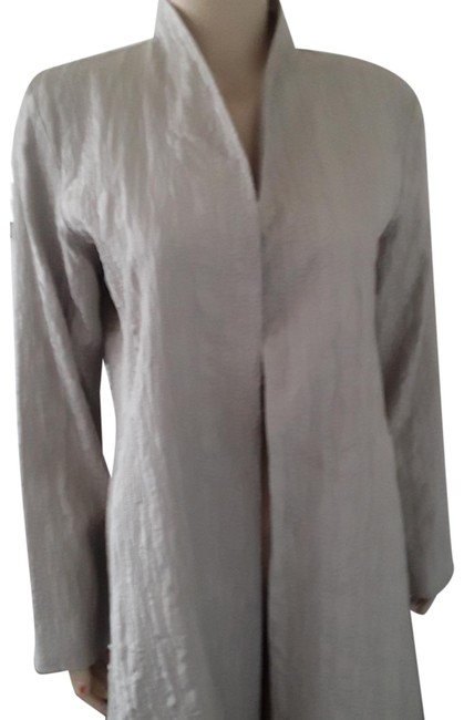 Preload https://img-static.tradesy.com/item/25557263/eileen-fisher-light-gray-silk-jacket-size-petite-6-s-0-1-650-650.jpg