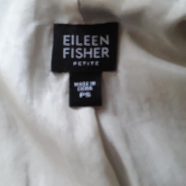 Eileen Fisher Light Gray 100% silk Jacket Image 9