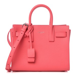 Saint Laurent Sac De Jour Nano Micro Micro-mini Satchel in Pink