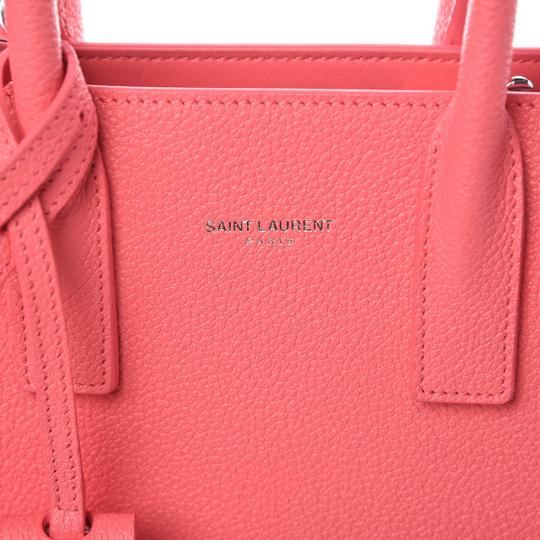 Saint Laurent Sac De Jour Nano Micro Micro-mini Satchel in Pink Image 6