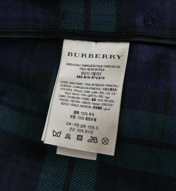 Burberry Women's Green/Black Plaid Patent Trench Coat Image 10