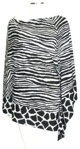 Michael Kors Black/White Animal Print Cover-up Sz Med-Lg Eu 42-46