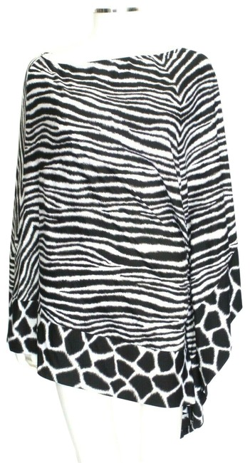 Michael Kors Black/White Animal Print Cover-up Sz Med-Lg Eu 42-46 Image 0