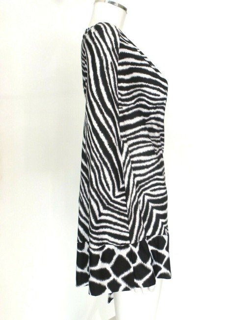 Michael Kors Black/White Animal Print Cover-up Sz Med-Lg Eu 42-46 Image 2
