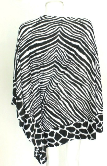Michael Kors Black/White Animal Print Cover-up Sz Med-Lg Eu 42-46 Image 3