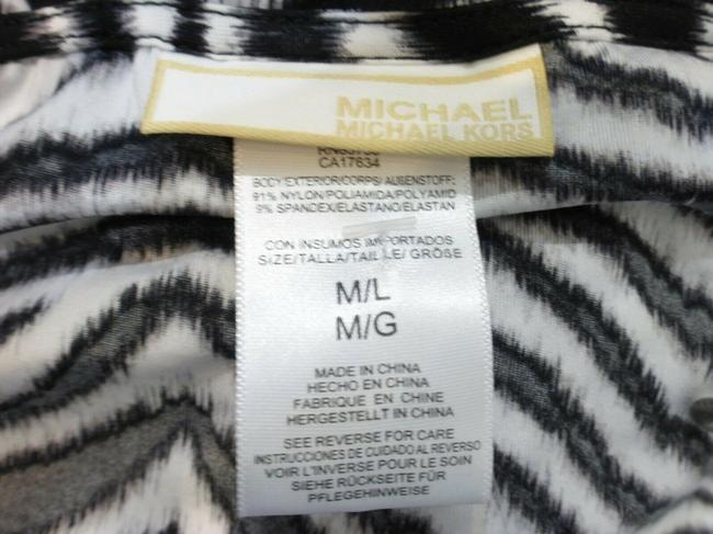 Michael Kors Black/White Animal Print Cover-up Sz Med-Lg Eu 42-46 Image 4