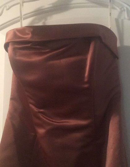 Copper Gown Formal Bridesmaid/Mob Dress Size 4 (S) Image 1