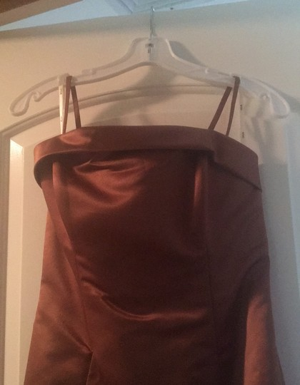 Copper Gown Formal Bridesmaid/Mob Dress Size 4 (S) Image 3