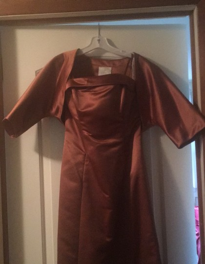 Copper Gown Formal Bridesmaid/Mob Dress Size 4 (S) Image 4