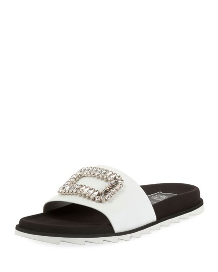 Preload https://img-static.tradesy.com/item/25557367/roger-vivier-white-slidy-viv-strass-buckle-flat-sandals-size-eu-36-approx-us-6-regular-m-b-0-0-540-540.jpg