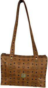 MCM Vintage Large Shopping Fashionable Tote in Tan