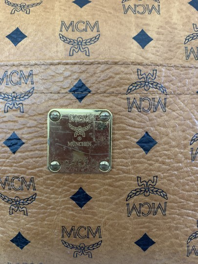 MCM Vintage Large Shopping Fashionable Tote in Tan Image 2