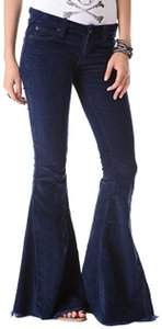 Free People Elephant Bell Super Flare Pants Blue
