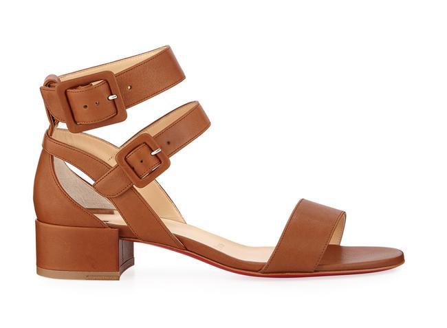 Christian Louboutin Brown Multipot 25 Cuoio Leather Ankle Strap Strappy Block Heel Sandals Size EU 36 (Approx. US 6) Regular (M, B) Christian Louboutin Brown Multipot 25 Cuoio Leather Ankle Strap Strappy Block Heel Sandals Size EU 36 (Approx. US 6) Regular (M, B) Image 1