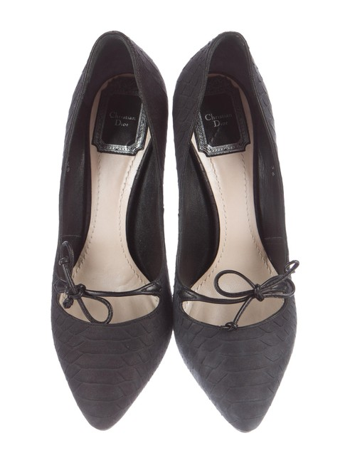 Dior Slate Christian Embossed Leather Pumps Size US 6 Regular (M, B) Dior Slate Christian Embossed Leather Pumps Size US 6 Regular (M, B) Image 1