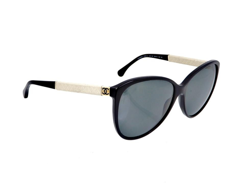 656a3777faee20 Chanel Black Ch 5225-q C.501/3f Quilted Leather Sunglasses - Tradesy