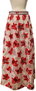 Tory Burch Textured Embellished Musthave Maxi Skirt Multicolor
