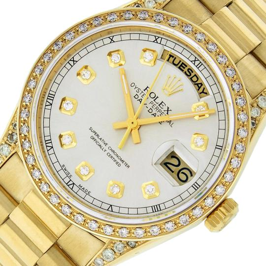 Preload https://img-static.tradesy.com/item/25557778/rolex-silver-mens-datejust-18k-yellow-gold-with-diamond-dial-watch-0-1-540-540.jpg