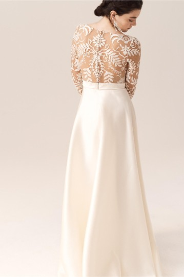 BHLDN Ivory and Nude Serena Feminine Wedding Dress Size 2 (XS) Image 2