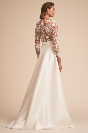 BHLDN Ivory and Nude Serena Feminine Wedding Dress Size 2 (XS) Image 3