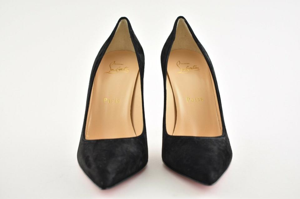 43bf537d892 Christian Louboutin Black Alminette 100 Suede Pointed Toe Classic Stiletto  Curve Heel Pumps Size EU 37 (Approx. US 7) Regular (M, B)