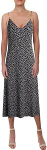 White/Black Maxi Dress by MICHAEL Michael Kors Sundress Animal Print V-neck Spaghetti Straps Full Hemline