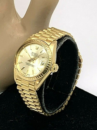 Rolex 1979 Rolex 6917 Ladies 18k Yellow Gold President Watch Oyster Datejust Image 1