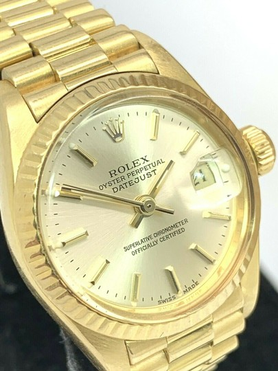 Rolex 1979 Rolex 6917 Ladies 18k Yellow Gold President Watch Oyster Datejust Image 10