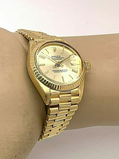 Rolex 1979 Rolex 6917 Ladies 18k Yellow Gold President Watch Oyster Datejust Image 3